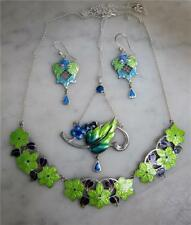 Enamel Necklace Other Reproduction Vintage Jewellery