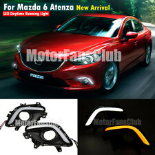 For Mazda 6 Atenza M6 DRL Fog 13 -14 With Turn Signal LED Daytime Running Light