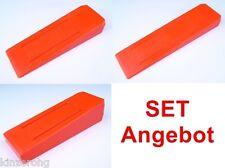 3er Set Fällkeil, Nachsetzkeil 200-420g Kunststoff schlagfest kälteunempfindlich