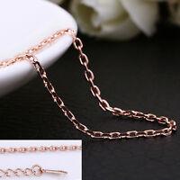 Wholesale 18K Rose Gold GP 1.5mm Class Chain Necklace Stunning 18'' / 46cm + 5cm