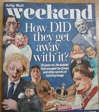 Spitting Image 30 years on - Daily Mail Weekend magazine – 1 March 2014