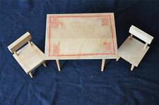 VINTAGE CAPE COD TOYMAKERS DOLL TABLE & 2 CHAIR SET W/ORIGINAL LABELS