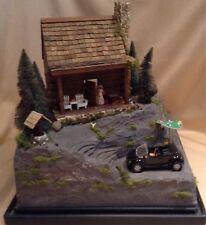 Handmade Miniature Dollhouse Cabin,OOAK, Quarter Inch Scalesz