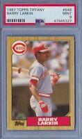 1987 Topps Tiffany #648 Barry Larkin Rookie PSA 9 Mint rc Cincinnati Reds