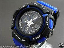 Blue Digital Analog Watch for Men Boy WR30M Alarm Date Day Running Biking Sydney