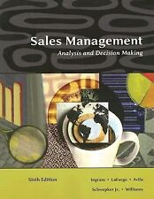 Sales Management : Analysis and Decision Making by Charles H. Schwepker,...