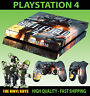 PS4 Skin Battlefield 4 V02 FPS War Games Sticker + Pad decals Vinyl LAID FLAT