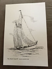 "PETER J STUCKEY THE KETCH IRINA VII 12"" x 8"" PERSONAL COLLECTION MARITIME PRINT"