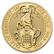 2019 Great Britain 1 oz Gold Queen's Beasts The Yale -SKU #190605