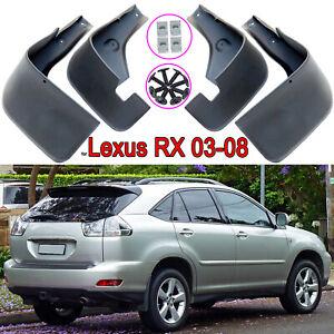 4x Mud Splash Guard Flaps Mudguard for Lexus RX300 RX350 RX330 RX400h XU30 03-08