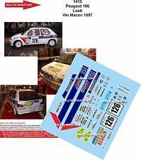 DÉCALS 1/24 réf 1415 Peugeot 106 Loeb Vin Macon 1997