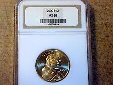 2000P First Year Gold Dollar NGC MS66 BU
