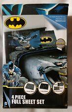 BATMAN 4 Piece Full Sheet Set Microfiber Brand New Kids bed WB