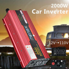 2000W 4000W DC 12V AC 110V Car Power Inverter Electronic Converter + USB Output