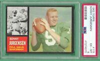 1962 Topps Football # 115 Sonny Jurgensen Eagles-2  PSA 6