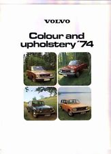 1974 VOLVO RANGE Colour & Trim Brochure for International Market 144 145 164 E