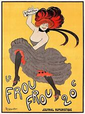 AD VINTAGE CAPPIELLO MAGAZINE LE FROU CAN-CAN DANCER ART PRINT POSTER LF206