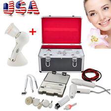 USA 5in1 High Frequency Galvanic Vacuum Spray Facial Spa Salon Tighten+gift free