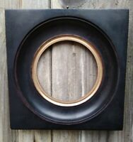 VICTORIAN style EBONISED Circular opening Gilt  Picture Frame.
