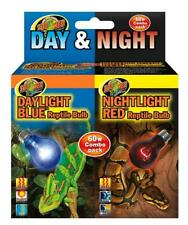 Zoo Med Day and Night Reptile Bulbs Combo Pack, 60 Watts
