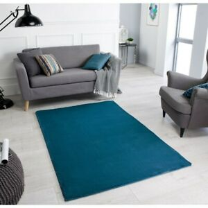 Comfy Supersoft Rugs In Teal - Luxury Microfibre Design ( 120x170cm )