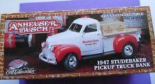 Anheuser Busch 1947 Studebaker Pickup Truck Die-Cast Bank Ertl Collectibles