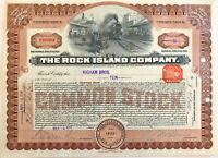 The Rock Island Company > 1914 railroad stock certificate