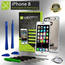 Display für iPhone 8 mit RETINA LCD Glas VORMONTIERT Komplett Front WEISS -White