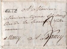 France Early Cover Metz to Nancy with 3 Pages content Postal History
