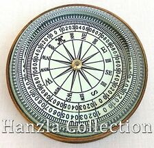 """3"""" Antique Nautical Brass Collectible Floating Dial Magnifying Desk Lens Compass"""