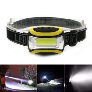 COB LED Headlights 3 Mode Waterproof Headlamp Flashlight Camping Cycling Torch