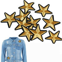 5/10Pcs Embroidered Stars Badges Iron-On Patch DIY Clothing Applique Stickers