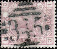 """GB / IRELAND - ca.1878 SG141 QV 2-1/2d rose pl.13 used """"MULLINGAR"""" numeral 345"""