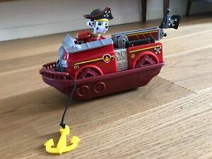 Paw Patrol Feuerwehr - Boot mit Figur Marshall