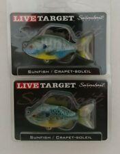 (2) Live Target Sunfish Swimbait Fishing Lures Lot of 2