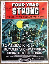 Four Year Strong. 2010 Gig Poster Seattle Washington Concert