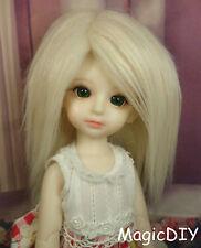 "5-6"" 14cm BJD doll fabric fur wig Smoke Yellow wig bjd hair for 1/8 bjd dolls"
