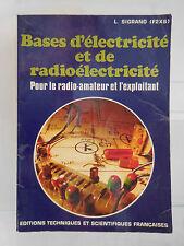 Bases d'électricité et de radioélectricité SIGRAND ETSF ARTBOOK by PN
