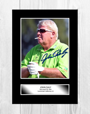 More details for john daly 2 a4 reproduction autograph golf poster with choice of frame