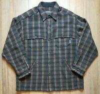 Vintage Woolrich L Mackinaw Wool Bark Loden 102RS Cruiser Hunting Jacket Coat