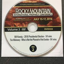 Rocky Mountain Bible Prophecy Conference DVD Vol 3,2016,Mahoney,Koenig,Christian