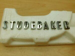 """""""STUDEBAKER"""" HOOD OR TRUNK LETTERS - FULL SET 1957-1964 58SC1-1D3"""
