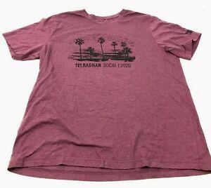 Reebok Ragnar Race Shirt Size Extra Large XL Adult Purple Tee Short Sleeve Men's