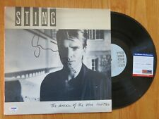 STING signed THE DREAM OF THE BLUE TURTLES 1985 Record / Album PSA THE POLICE
