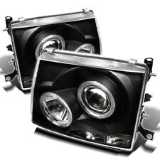 Toyota 97-00 Tacoma Dual Halo LED Projector Headlights LED Style Black