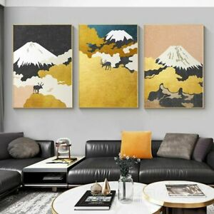 Scandinavian Canvas Mountains Abstract Landscape Wall Painting Poster Home Decor