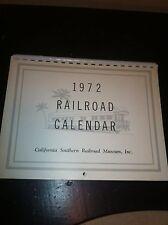 Vintage 1972 California Southern Railroad Musem Inc, Calendar