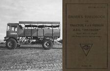 AEC Matador Truck Manual 1940's WW2 Artillery tractor 4x4 O853 British Lorry
