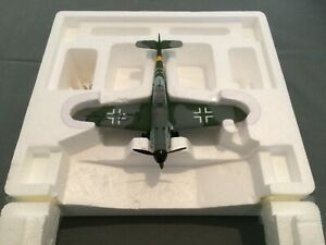 Original autograph hand signed Gunther Rall Franklin Mint Me 109 1/48 scale.