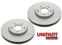 UNIPART GBD1954  Brake Discs (Pair) Vented Front 295mm FOR TOYOTA AVENSIS AURIS
